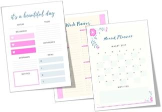 Plannen van het huishouden | met gratis planners
