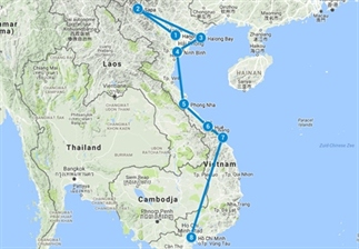 Ultieme backpack route Vietnam