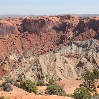 Wandelen in Canyonlands: Upheaval Dome