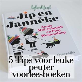 5 Tips voor leuke peuter voorleesboeken