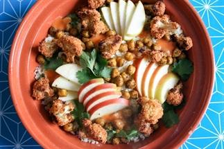 Couscous met kikkererwten en krokante bloemkool