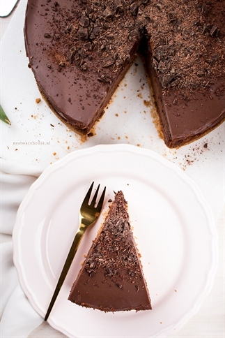 Driedubbele chocolade cheesecake -triple chocolate