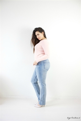 Een extra lange jeans