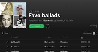 Favoriete spotify playlists!