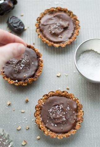 Glutenvrije mini taartjes met chocolade