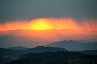 Levend behang Zo mooi is de sunset in Tarragona