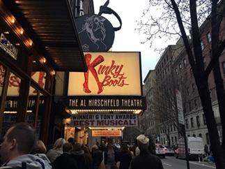Naar een musical op Broadway, New York City