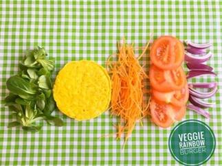 Rainbow Veggie Burger