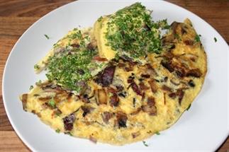 Recept boerenomelet met champignons