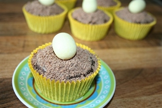 Recept paascupcakes met een vogelnestje
