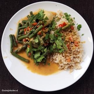 Vegetarisch stoofgerecht met Thaise smaken