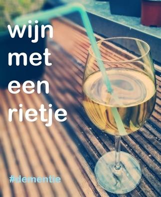 Wijn met een rietje