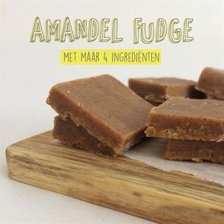 Amandel fudge (4 ingrediënten en vegan!)