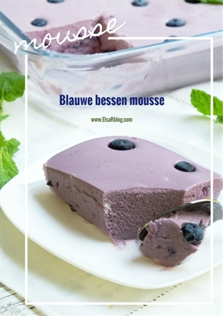 Blauwe bessen mousse (Recept uit Portugal)