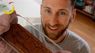 Cake met bruine bonen