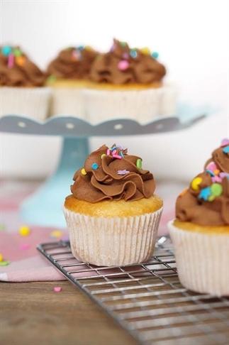 Cupcakes met de lekkerste chocolade frosting ever!