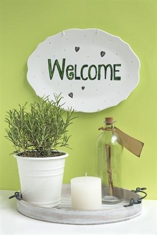Diy Welcome op porselein schilderen - uitleg -