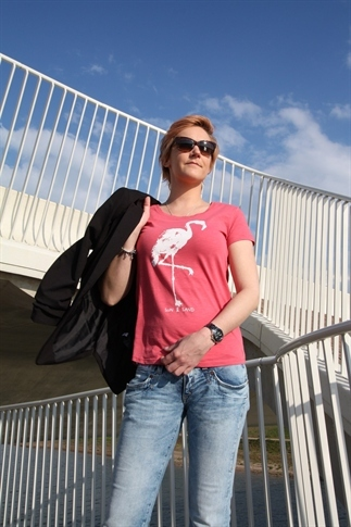Flamingo T-shirt voor de zomer :)
