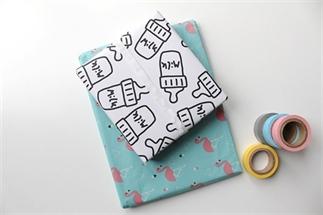 Gratis printable cadeaupapier met MILK-print