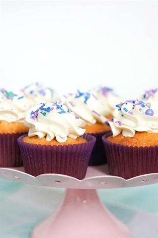 Kokos vanille cupcakes