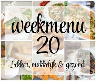 Lekker, makkelijk en gezond weekmenu #20