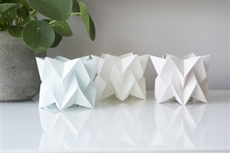Origami waxinelichtjes van papier