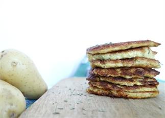 Pancakes van Malta aardappelen