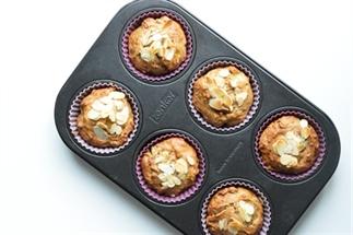 Pindakaas-banaan muffins
