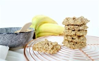 Super makkelijke granola banaan koekjes