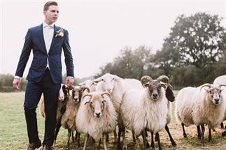 Wollig idee voor een boerderij bruiloft