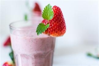 Aardbeien Milkshake met Vanille en Munt