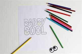 Direct even printen: Vaderdag kleurplaat