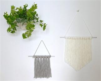 DIY | makkelijke wandhanger van wol!