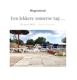 Een lekkere zomerse tag