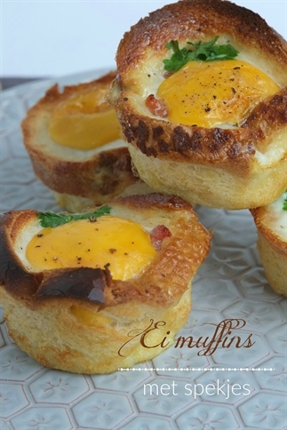 Ei muffins met spekjes (Hartige hapjes)