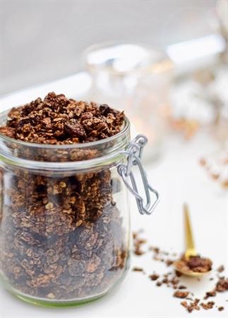 Gezonde chocolade granola