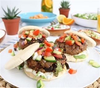 Griekse lamsburger