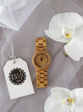 Houten horloges.
