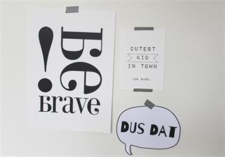 Printbare hanger met quote