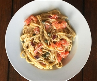 Romige spaghetti à la carbonara voor 1 persoon