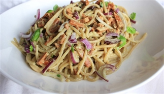 Spaghetti carbonara - vegan