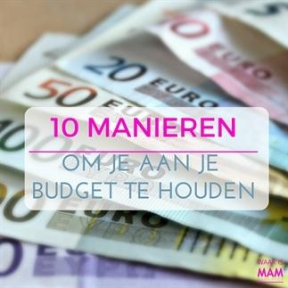 10 Manieren om je aan je budget te houden