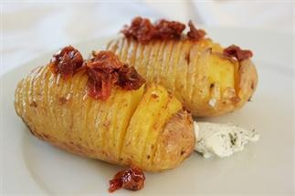 Aardappel slices uit de oven