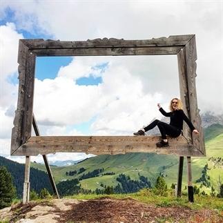 Magische kunst hoog in de Italiaanse Alpen