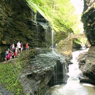 Mooie watervallen in Watkins Glen