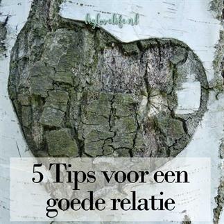 5 Tips voor een goede relatie