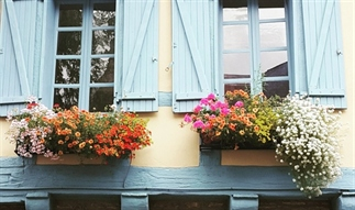 Het idee van de Ville Fleurie in Frankrijk