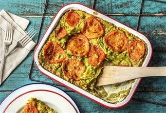 Lasagne met kipgehakt en broccoli