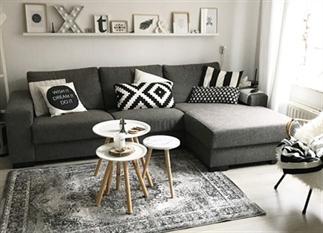 Binnenkijken in een grijs/wit/zwart interieur