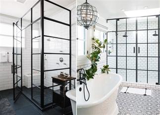 De trend van nu: douchecabines met zwarte kozijnen